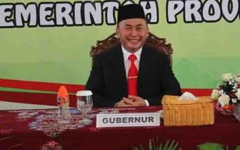 Gubernur Kalteng, Sugianto Sabran.
