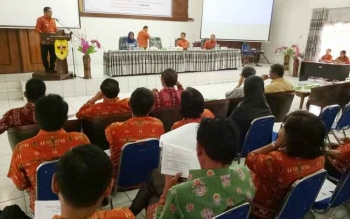 Wakil Bupati Gumas Rony Karlos membuka kegiatan multi stakeholder forum program kesehatan dan gizi berbasis masyarakat untuk menurunkan stanting melalui kampanye gizi nasional dilaksanakan di aula kantor BP3D, Kamis (10/8/2017)