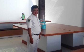 Tempat makan para pasien gangguan jiwa di ruang Teratai di rumah sakit dr Murjani Sampit