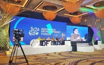 Indonesia Development Forum 2017 di Jakarta, Kamis (10/8) sore.