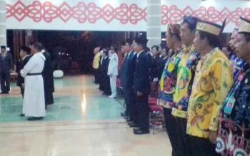 Suasana pengambilan sumpah jabatan di Aula Pemkab Kapuas.