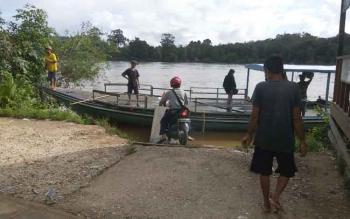 Kondisi Sungai Barito di Desa Muara Untu, Kecamatan Murung