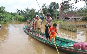 Banjir di Kecamatan Antang Kalang.