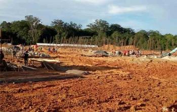Inilah lokasi rencana pembangunan rumah sakit pratama di Tumbang Talaken yang akan diresmikan oleh Bupati Gunung Mas