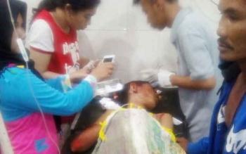Korban laka lantas saat dirawat di RSUD Dr Murjani Sampit akibat luka parah yang dideritanya