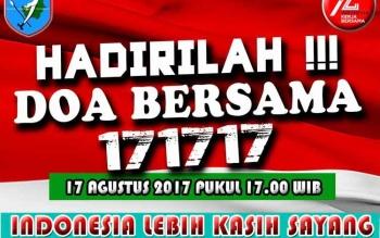 Keluarga Besar Kodam XII/Tanjungpura siap menggelar Doa bersama, mensukseskan gagasan Panglima TNI Jenderal Gatot Nurmantyo. Aksi Kasih Sayang 17 17 17 itu, melibatkan masyarakat, semua golongan.