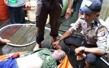 Jasad Ebe berhasil dievakuasi oleh aparat kepolisian dan warga yang tenggelam di DAS Manuhing