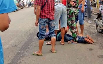 Ngamuk di Pasar, Pria Gangguan Jiwa Ini Diamankan Satpol PP
