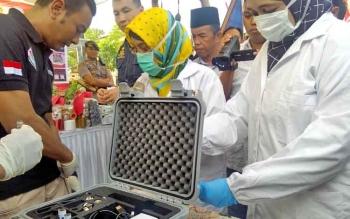Inilah alat pendekteksi narkoba, obat-obatan terlarang dan bahan peledak milik Polda Kalteng.