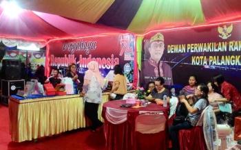 Stan DPRD Kota Palangka Raya dalam Palangka Fair yang baru-baru ini dilaksanakan.