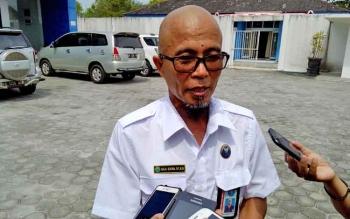 Plt Kepala Badan Narkotika Nasional Kalteng Baja Sukma saat memberikan keterangan pers, Rabu (16/8/2017).