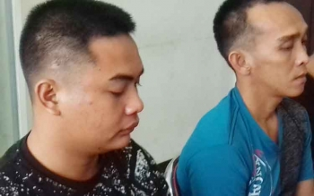 Bola alias Otong dan Ahmad Kasmiran tersangka kasus curanmor.