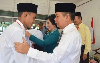Bupati Kapuas Ben Brahim S Bahat membuka Orientasi Pembekalan Mahasiswa Baru (Orpemba) Sekolah Tinggi Agama Islam (STAI) Kuala Kapuas di Aula STAI Kuala Kapuas, Rabu (16/8/2017).\\\\r\\\\n