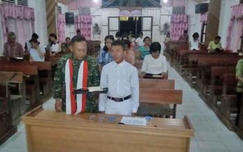 Koramil Tumbang Jutuh Juga Gelar Doa Bersama di Berbagai Tempat Ibadah