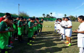 Tim Kalteng Putra saat latihan di Stadion A Yani Sumenep