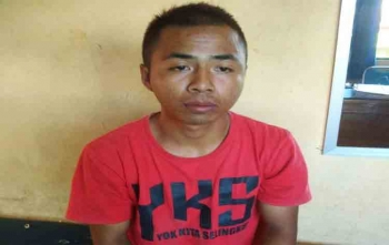 Rahman Nurahim terduga pencuri di kios yang berhasil diamankan polisi