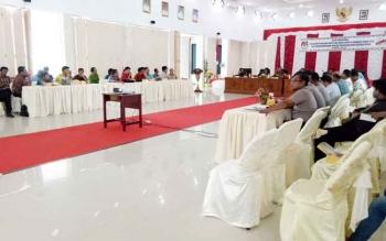 KPU Sukamara saat menggelar kegiatan di aula kantor bupati beberpa waktu lalu.
