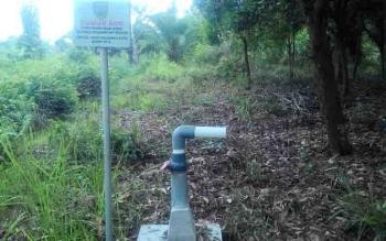 Salah satu sumur bor di kawasan Kecamatan Jekan Raya, Palangka Raya.