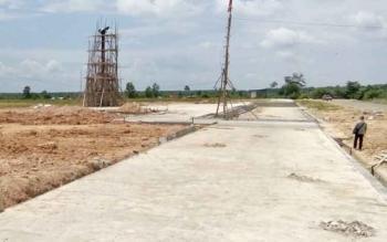 Tampak bagian selatan alun-alun Nanga Bulik yang akan digunakan sebagai lokasi pameran pada Pesparawi XVI tingkat Kalteng tahun 2017, september nanti.