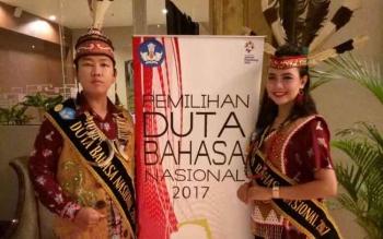 Adytia Anugrah dan Niti saat menjadi tamu VVIP dalam upacara bendera 17 Agustus di Kementerian Pendidikan dan Kebudayaan Republik Indonesia.