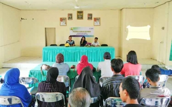 Pelatihan BKM/LKM di Kelurahan Mentawa Baru Hilir.