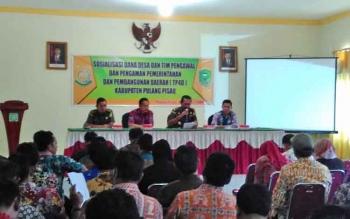 Sosialisasi dana desa dan TP4D ( Tim Pengawal dan Pengamanan Pemerintah dan Pembangunan Daerah)