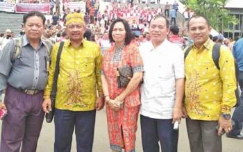 Sejumlah tokoh masyarakat Katingan saat menghadiri Rembug Politik Percepatan Pembentukan Daerah Otonomi Baru di Jakarta.