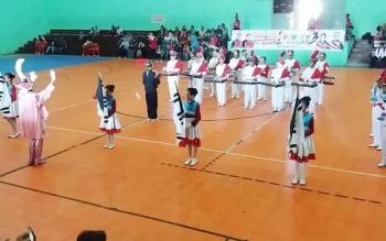 Marching Band SDN 6 Palangka Raya dalam rangka Porkot Palangka Raya 2017