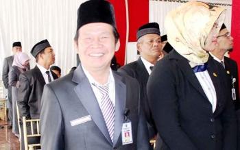 Ermal Subhan di Istana Isen Mulang, saat pelantikan 18 Agustus 2017