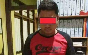 DA (30) bandar sabu yang berhasil ditangkap Jajaran Satresnarkoba Polres Kapuas