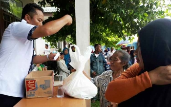 Pembagian sembako di UPPKH Kotim, Rabu (30/8/2017)