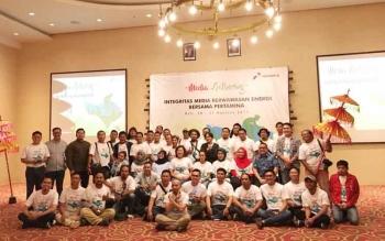 Gathering media Kalimantan oleh Pertamina di Bali.