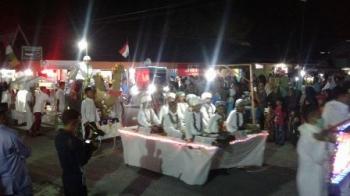 Peserta Pawai Takbir Tanglung di Sukamara, Kamis (1/8/2017) malam.
