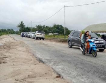 Jalan Desa Pudu, Kecamatan Sukamara merupakan jalur jalan lingkar dalam kota. Dinas PUPR Sukamara tahun ini melanjutkan penanganan jalan lingkar dalam Kota Sukamara.