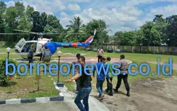 YB Diberangkatkan Naik Helikopter dari Polda Kalteng ke Banjarmasin lalu Jakarta
