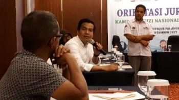 Team Leader IMA World Health, Iwan Hasan, memberikan penjelasan mengenai anak stanting kepada wartawan di Kota Palangka Raya, Rabu (6/7/2017).