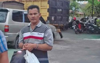 Muhammad Dayu alias Dayu (40) tersangka kasus sabu.