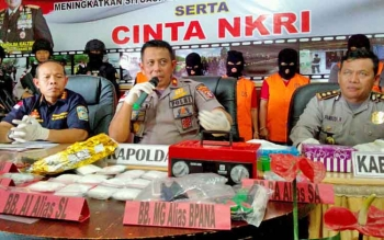 Kapolda Kalteng Brigjen Anang Revandoko mengadakan press release kepada wartawan, Kamis (7/9/2017)