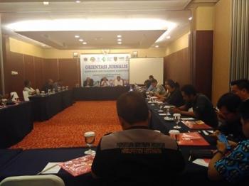 Kegiatan Orientasi Jurnalis Kampanye Gizi Nasional dan Sanitasi di Palangka Raya, Kamis (7/9/2017).