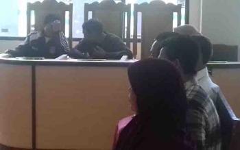 Sidang kasus pembakaran lahan di Pengadilan Negeri Sampit.