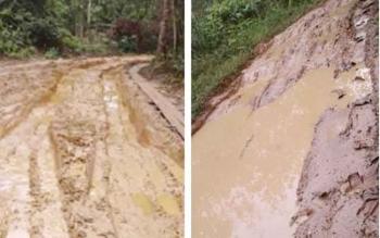 Warga Desa Malungai Raya Keluhkan Jalan Rusak