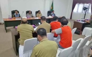 Rapat pamantapan kontingen Pasparawi Kabupaten Gumas di ruang rapat lantai I kantor Bupati Gumas, Senin (11/9/2017).