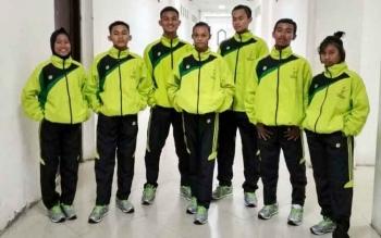 Tim Taekwondo yang mewakili Kalteng pada ajang POPNAS 2017