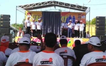 KPU Pulang Pisau melakukan launching Maskot Pilkada mengawali pelaksanaan tahapan penyelenggaraan Pilkada Kabupaten Pulang Pisau.