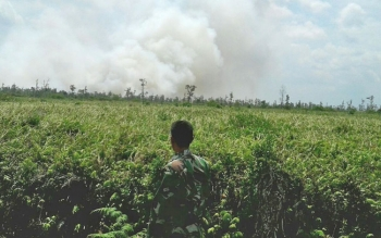 Operasi Tim Posko Siaga Darurat Bencana Asap Karhutla Kabupaten Kotim saat terjadi kebakaran