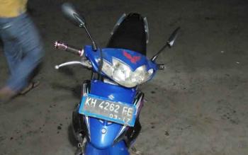 Inilah motor yang digunakan pengedar zenith untuk berupaya kabur.