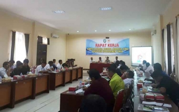 Rapat kerja KONI Kotim, Rabu (13/9/2017)