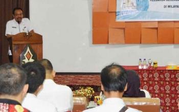 Sekertaria Daerah Kabupaten Kapuas Rianova,SH membuka secara langsung sosialiasasi partisipasi pria dalam program Keluarga Berencana di gedung Wanita Lawang Kameloh.