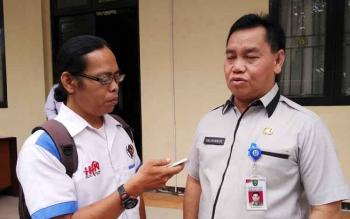 Ketua KONI Kotim Halikinnor saat diwawancarai wartawan.