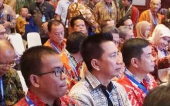 Bupati Barito Utara, Nadalsyah saat menghadiri acara Rapat Kerja Nasional Akuntansi dan Pelaporan Keuangan Pemerintah tahun 2017 di Gedung Dhanapala Kementerian Keuangan